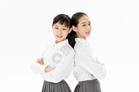 初中女同学背靠背图片