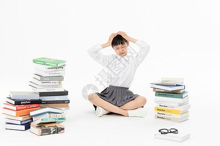 中学生教育学习压力图片