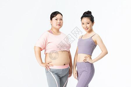 胖瘦姐妹身材展示图片