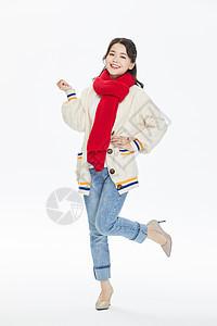 冬季可爱活力美女图片