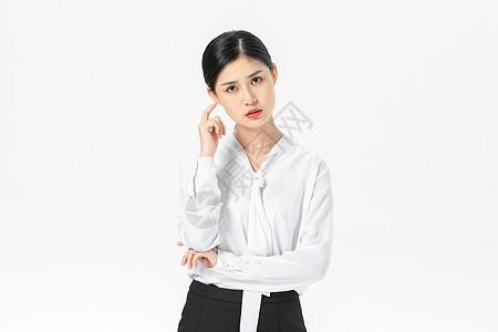 焦虑的商务女性图片