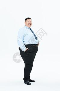 肥胖商务男性形象图片