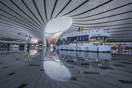 北京大兴国际机场建筑值机柜台图片