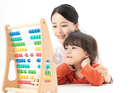 儿童幼教玩珠算架图片