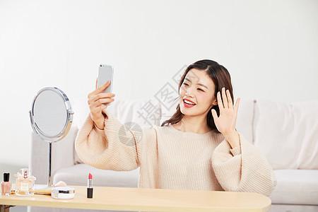居家美女手机直播图片