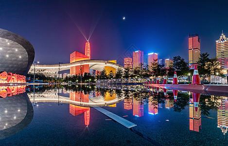 深圳70周年国庆灯光秀图片