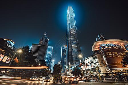 深圳城市夜景灯光秀图片