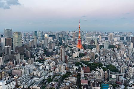 日本地标建筑东京塔图片