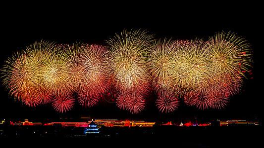 北京天坛的烟花图片