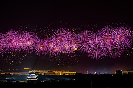 北京天坛夜空烟花图片