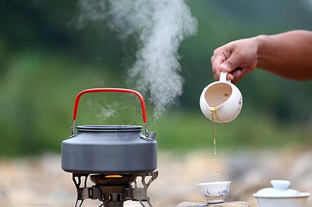 户外煮茶图片
