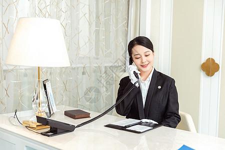 酒店服务贴身管家打电话图片