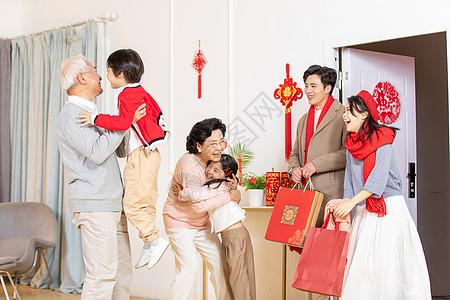 新年家庭进门欢迎图片
