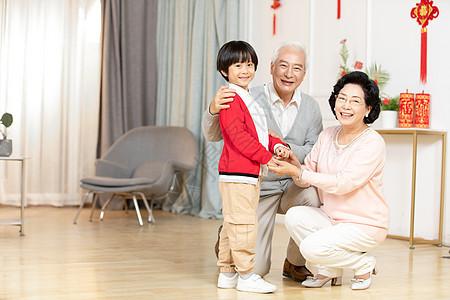 新年祖孙家庭照图片