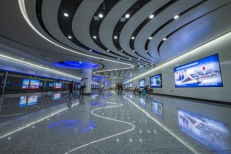 北京地铁大兴机场站内图片