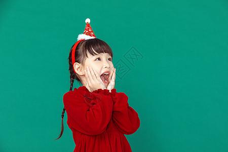 圣诞女孩欢乐形象图片
