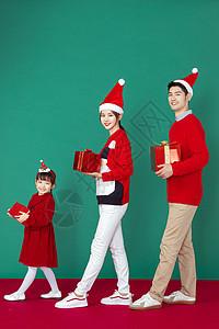 圣诞欢乐家庭形象图片