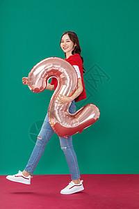 圣诞女性欢乐形象图片