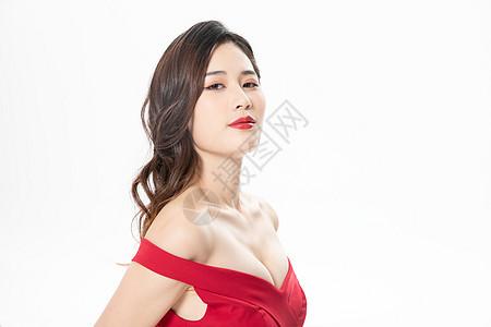 青年女性丰胸形象图片