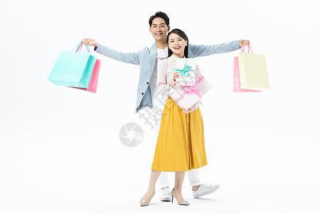 情侣购物图片