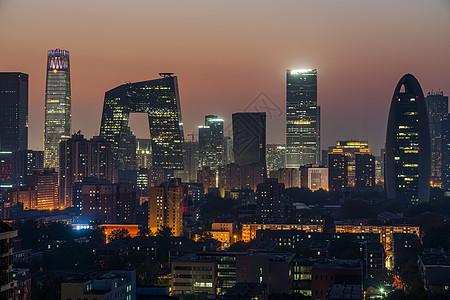夜景的北京国贸图片