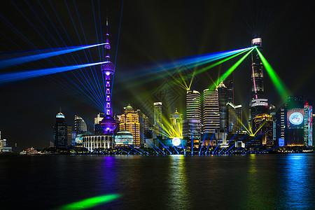 上海进博会外滩夜景图片