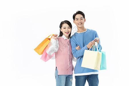 青年男女购物形象图片