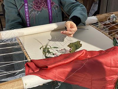 上海进博会非物质文化遗产苏绣图片