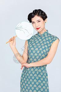 民国古风旗袍美女图片