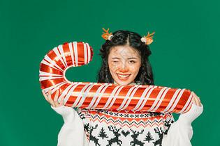圣诞节糜鹿妆美女图片