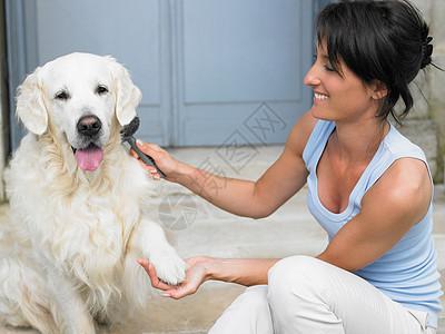 带着狗的女人图片