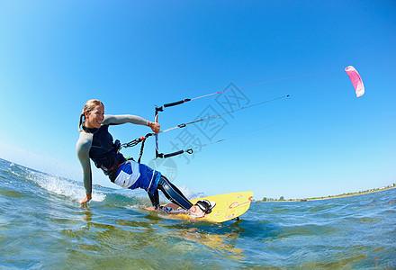 女风筝冲浪者图片