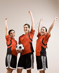 足球队在一起欢呼图片