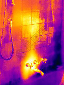 淋浴水龙头热像图图片