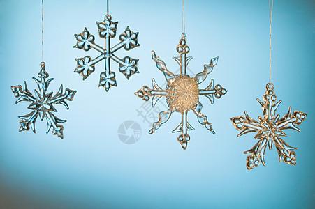 水晶雪花圣诞饰品图片