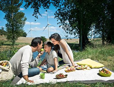 家庭野餐图片
