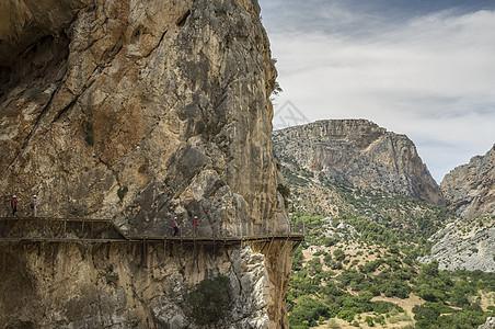 西班牙马拉加El Chorro Caminito del Ray人行道立面图图片