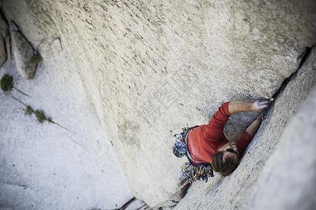 """攀岩""""邦基特""""5.10D-美国犹他州盐湖城小棉白杨峡谷图片"""