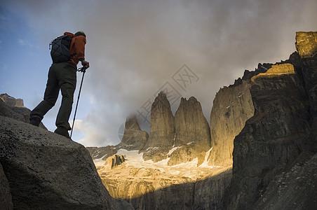 冒险旅行的男人图片
