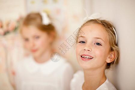 女孩笑脸特写图片