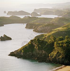 西班牙阿斯图里亚斯的悬崖和海岸线图片