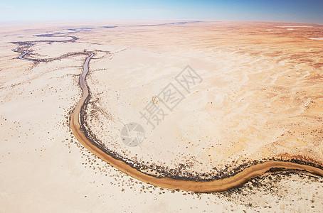 澳大利亚南澳大利亚墨累河鸟瞰图图片