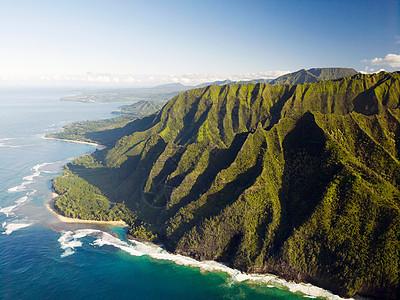 夏威夷考艾岛纳帕利海岸国家公园海岸线图片