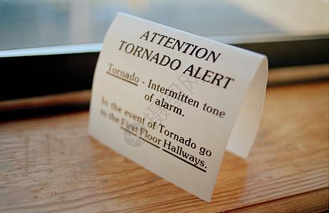 美国俄克拉荷马州龙卷风信息警告标志图片