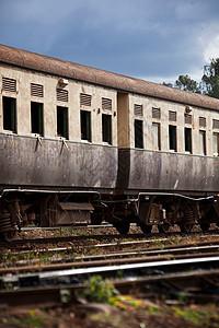 内罗毕铁路博物馆的旧火车客车图片