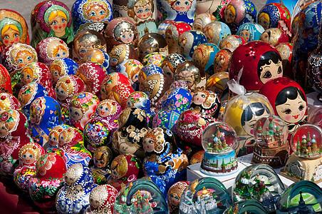 俄罗斯莫斯科红场入口处出售的纪念品图片