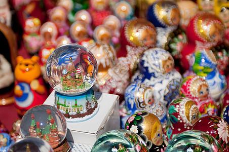 俄罗斯莫斯科红场出售的纪念品图片