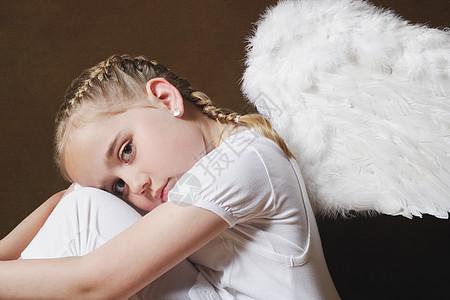 天使女孩图片