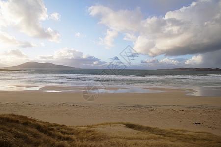 日落时的海滩图片