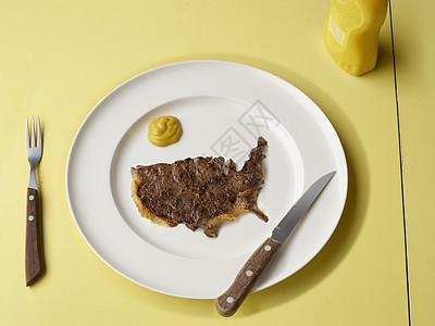 我们形状的肉片图片